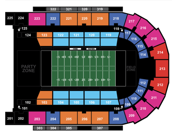 Boardwalk Hall Seating chart for Atlantic City Blackjacks home games
