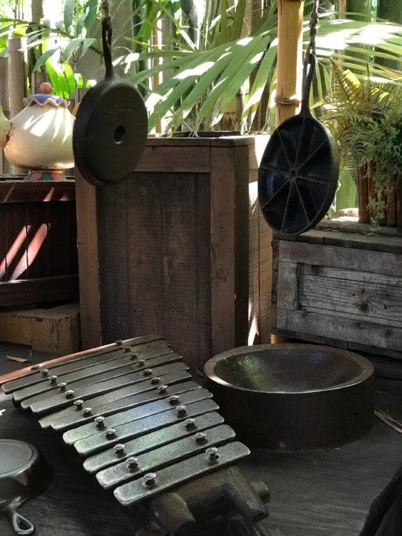 Tarzan's Treehouse play the xylophone