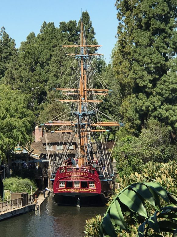 Tarzan's Treehouse view of columbia ship