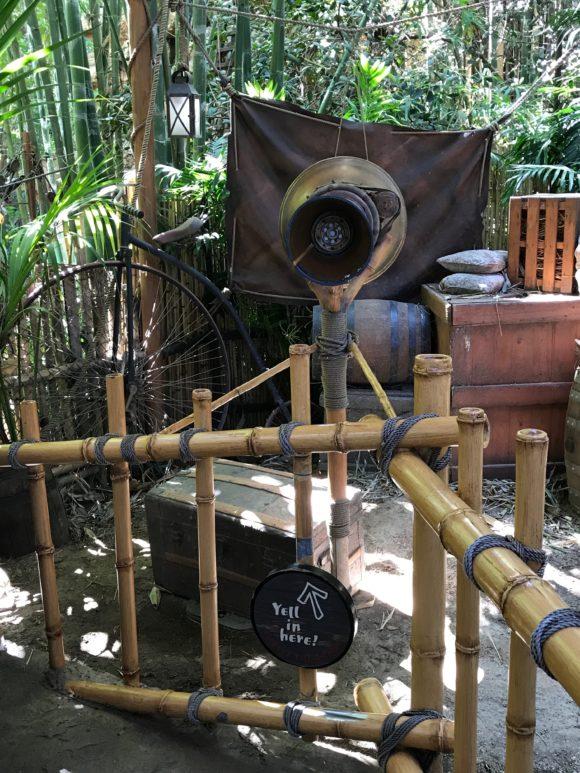 Tarzan's Treehouse yell in the megaphone