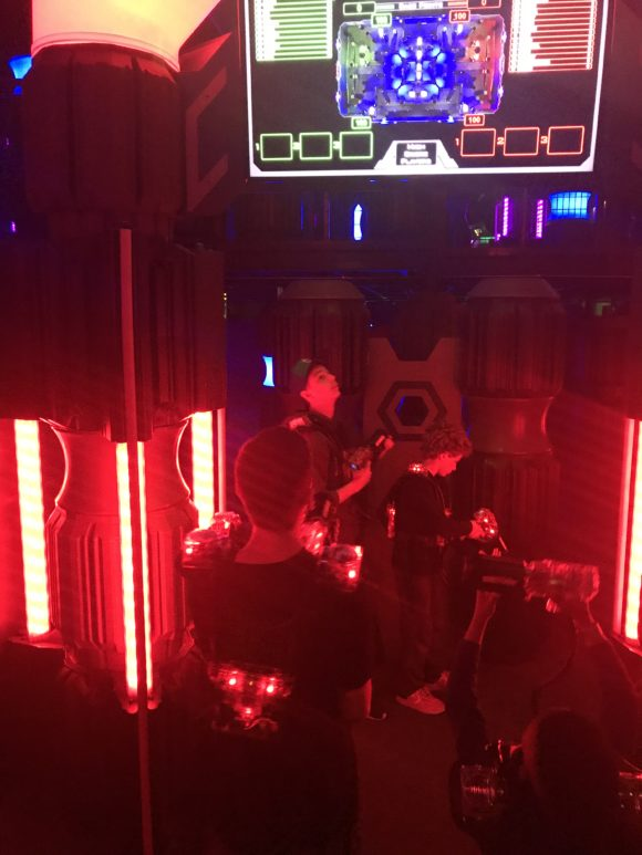 kids and teens play lasertag at iPlay America