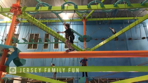Kartrite Resort and indoor waterpark ropes course carbiners