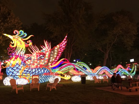 The Phoenix Lantern at the Philadelphia Chinese Lantern Festival.