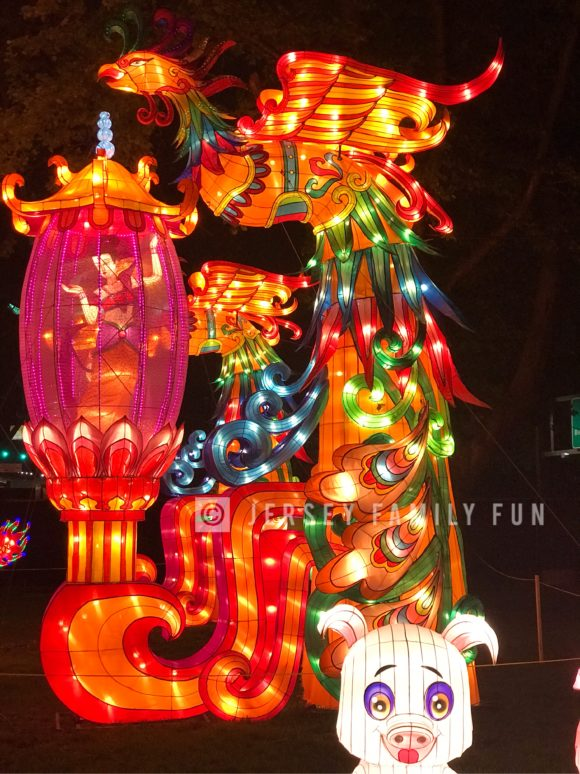 The Dancing Fairy lantern at the Philadelphia Chinese Lantern Festival includes fairies that turn.