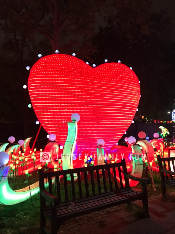 heart lantern at the Philadelphia Chinese Lantern Festival.