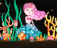 The mermaid lantern at the Philadelphia Chinese Lantern Festival