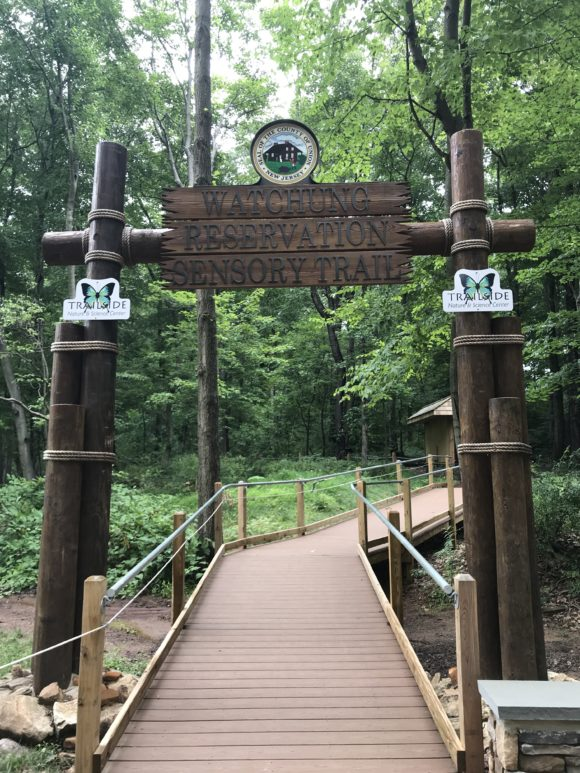 Watchung Reservation Sensory Trail Entrance in Mountainside New Jersey