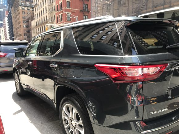 2019 Chevy Traverse on the streets of NYC