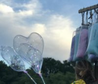 cotton candy and balloons being sold at NYC Central Park Concert in the Park