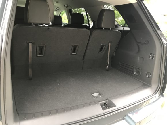2019 Chevy Traverse back trunk and cargo space