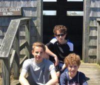 Jenn with boys at Island Beach State Park