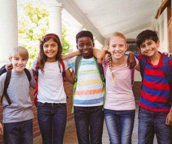 Kids at vacation bible camp