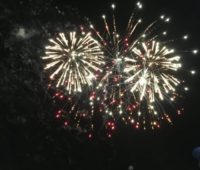 image of July 4th fireworks in New Jersey