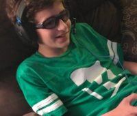 z wearing turtle beach gaming headset for playstation