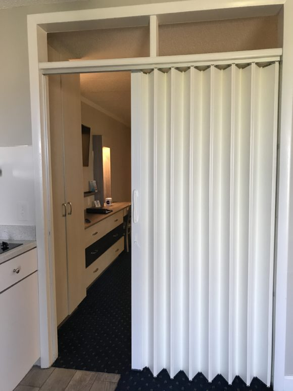 Room divider in hotel room at the Adventurer Oceanfront Inn hotel in Wildwood Crest