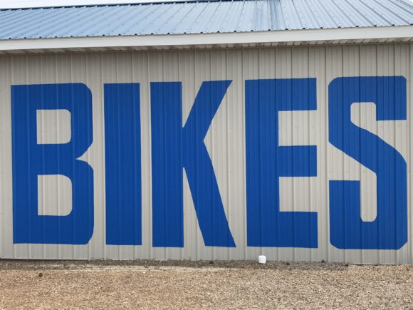 Large Bike Sign at Crest Bike Rentals in Wildwood