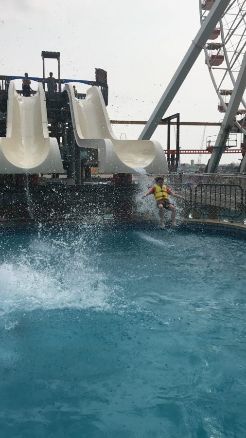 Shotgun falls at Raging Waters at Moreys Piers in Wildwood.