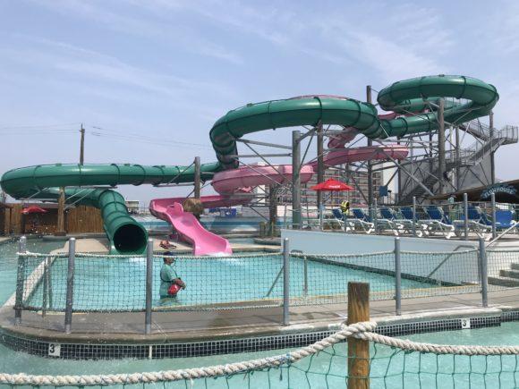 Hurricane Island splash ground at Splash Zone Waterpark in Wildwood