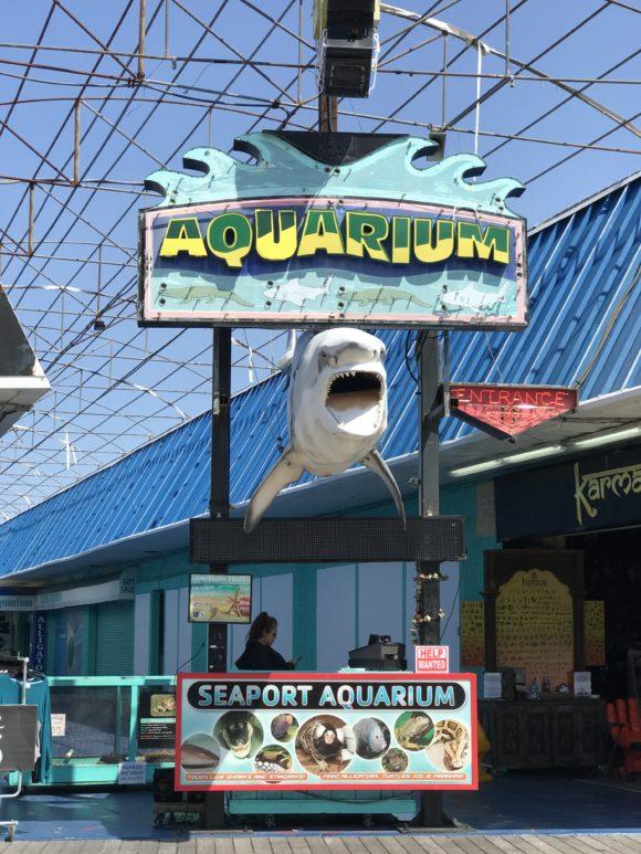 Seaport Aquarium on the Wildwood Boardwalk in Wildwood