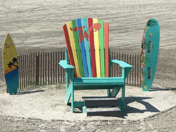 Wildwood photo opp adironack chairs on the beach