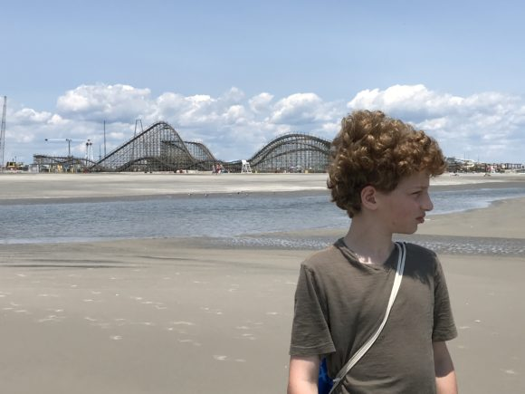 boy on Wildwood beach