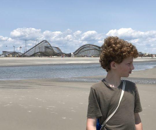 boy on Wildwood beach