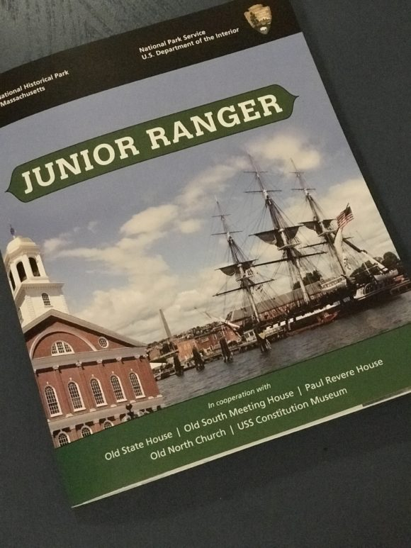 Junior ranger booklet for Boston National Historical Park