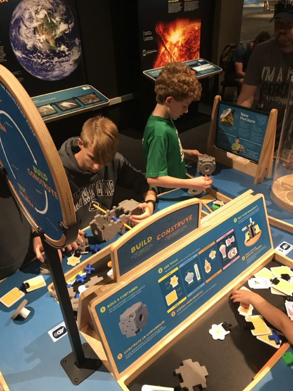 boys building at Boston Museum of Science