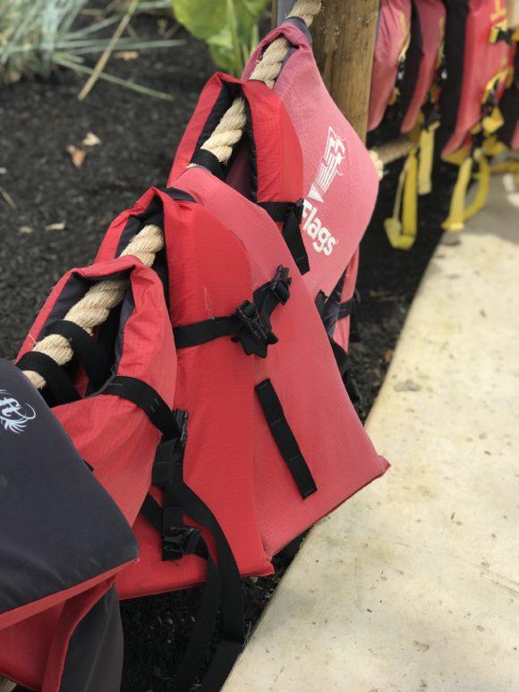 life vests at Hurricane Harbor