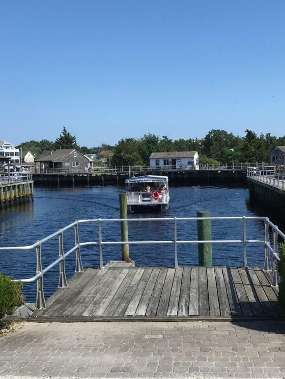 Tuckerton Seaport boat tour leaving the dock