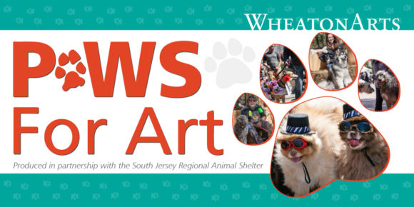 banner for Wheatonarts event for dogs
