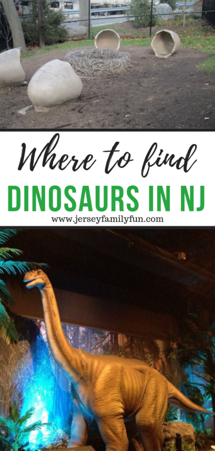 where to find dinosaurs in New Jersey pinterest image