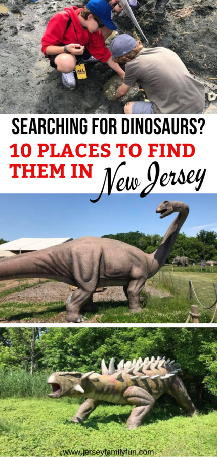 Pinterest image for where to find dinosaurs in New Jersey