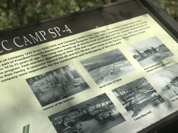 Parvin state park signage