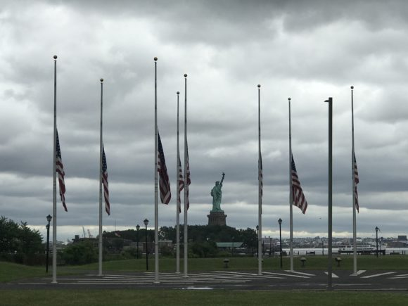 U. S. Flag Plaza at Liberty State Park