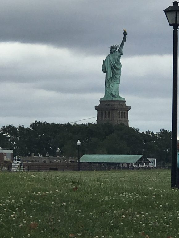 Backside of statue of liberty