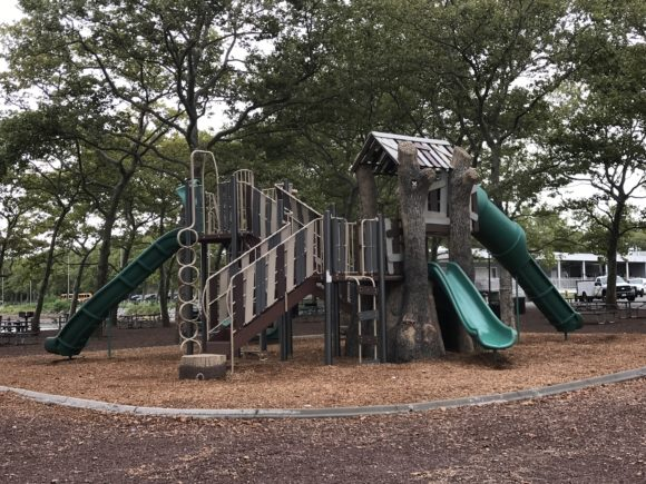one of the playgrounds at Liberty State Park