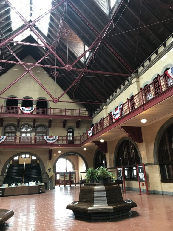 Inside the Central Railroad of New Jersey Terminal in Jersey City
