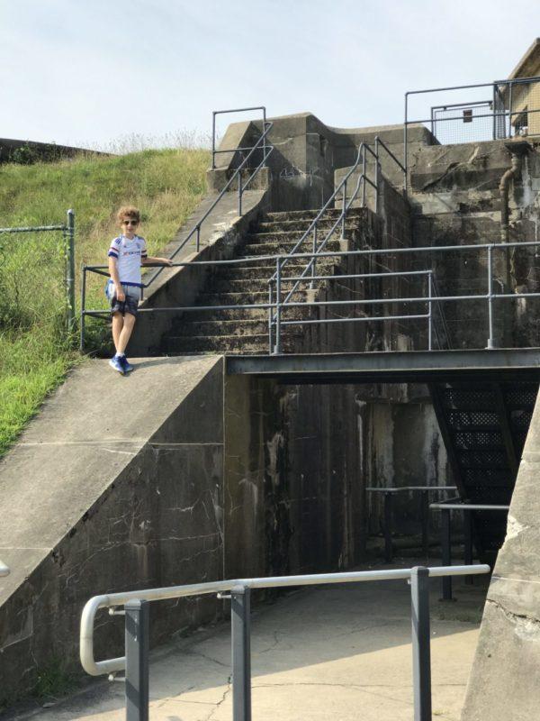 Climbing walls of Battery Gregg at Fort Mott