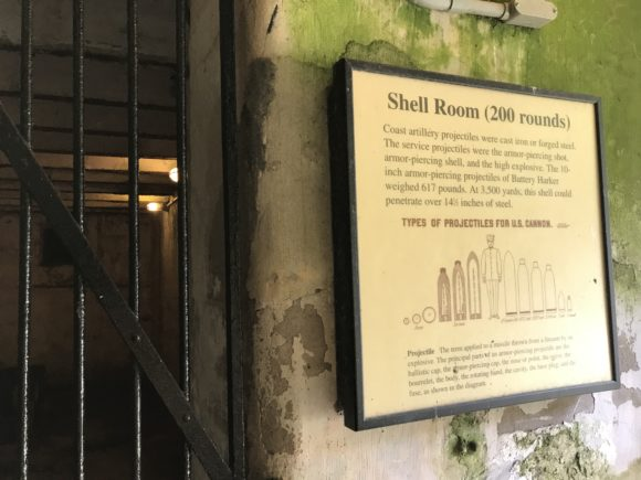 Shell room at Fort Mott
