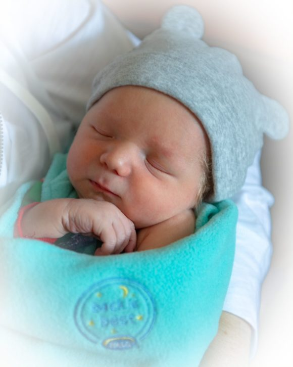 a newborn delivered at Inspira Medical Centers in South Jersey