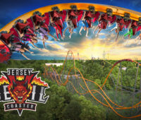 Six Flags Great Adventure Jersey Devil Coaster key art