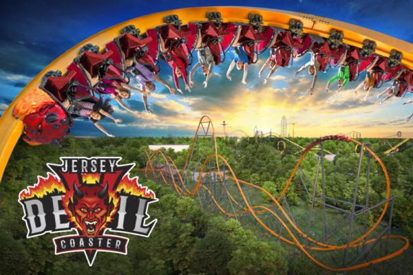 Six Flags Great Adventure Jersey Devil Coaster key art