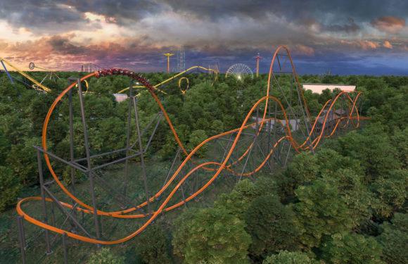 Six Flags Jersey Devil Coaster wide shot