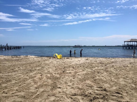 Somers Point Muncipal Beach is a kid friendly beach with swimming in the bay.