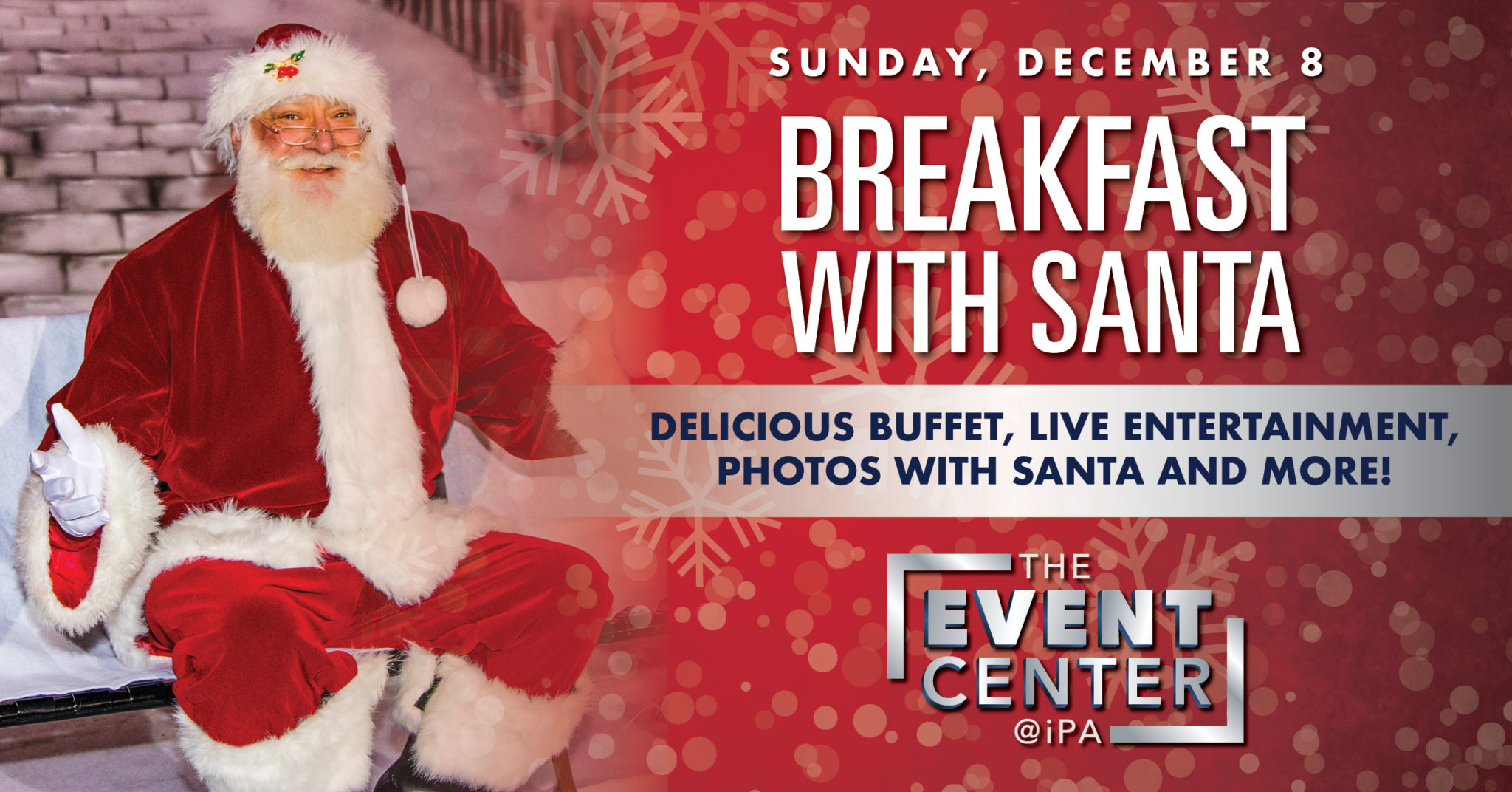 ad image for breakfast with Santa in freehold at iPlay America