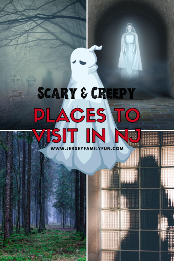 a collage of scary and creepy places to visit in New Jersey