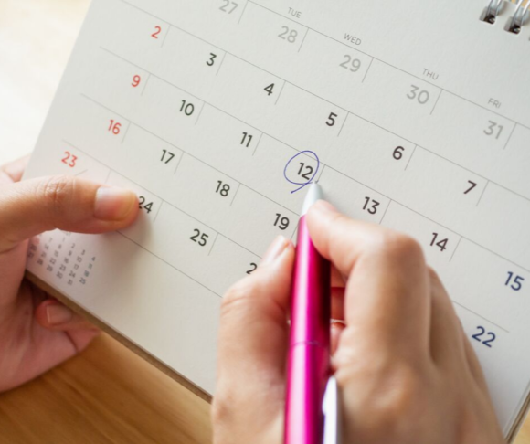 a calendar image is used to show how to get events listed on a New Jersey Calendar of Events.