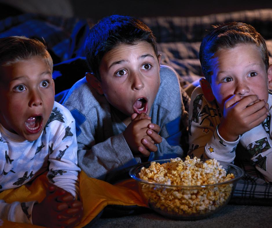 kids watching scary halloween tv specials