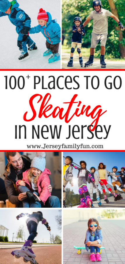 Collage of places to skate in New Jersey